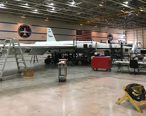 Inside the NASA Armstrong aircraft hangar