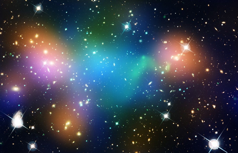 Hubble image of Galaxy Cluster Abel 520