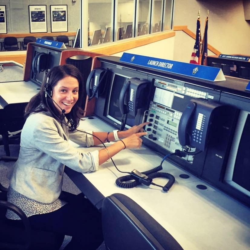 Danielle Gervalis at the KSC Launch Control Center