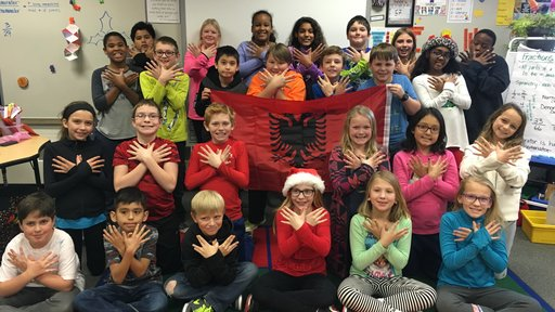Minnesota students participate in a pen pal exchange with a Peace Corps Volunteer in Albania.