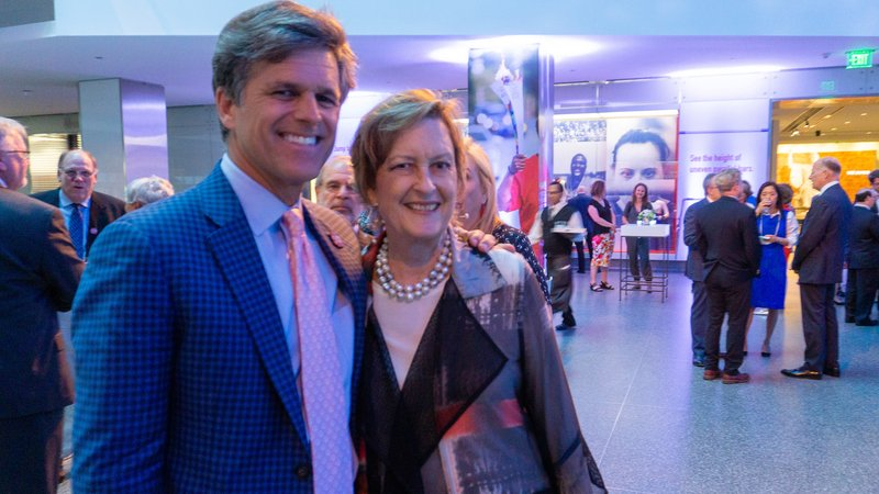 Jody Olsen with Timothy Shriver, Special Olympics