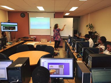 Teaching an Intro to Web Design professional development course to 30+ government employees in Port Vila, Vanuatu
