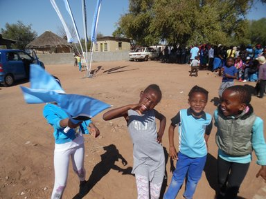 Children in my village excited to be celebrating Botswana's 50th year of independence