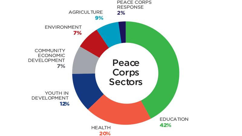 2018 volunteers by sector
