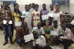 group photo completion certificates