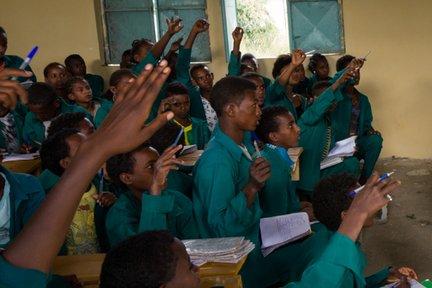 English students in Ethiopia