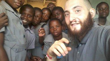 Zach with kids