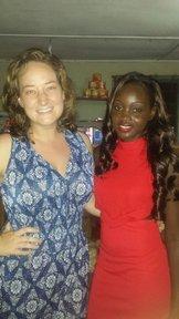 Volunteer Rachel with host sister Khadijah