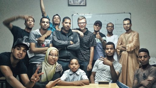 Matt with photography and videography workshop students.