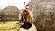 Nate in traditional warrior garb