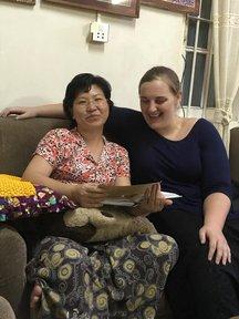 Volunteer Jami and her host mom