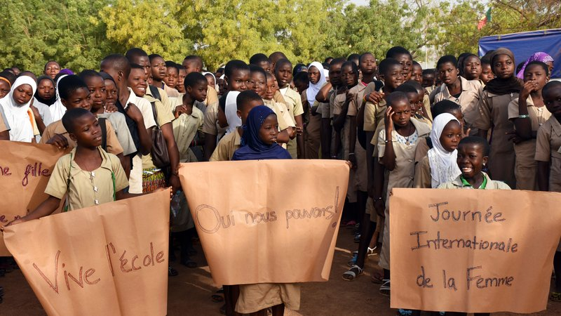 IWD Student March, Sinende, Benin