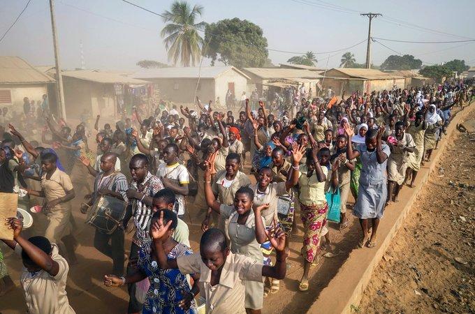 IWD Student March, Sinende, Benin 2
