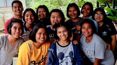 Leadership camp group photo.