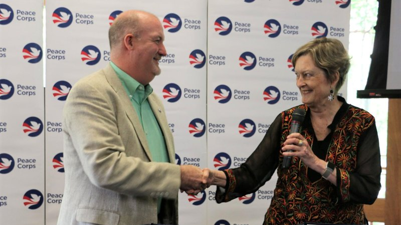 NPCA President Glenn Blumhorst and Peace Corps Director Jody Olsen signed a joint MOU at Peace Corps Connect.