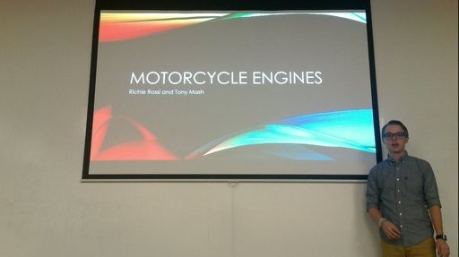 One college student chose how a motorcycle engine works.