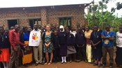 A Peace Corps Volunteer with her school after a reading session