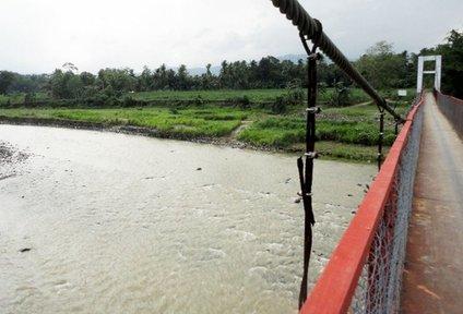 A bridge in Barangay Simborio in the Negros Island Region of the Philippines