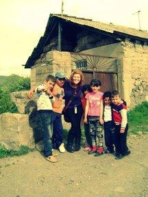 With our village children