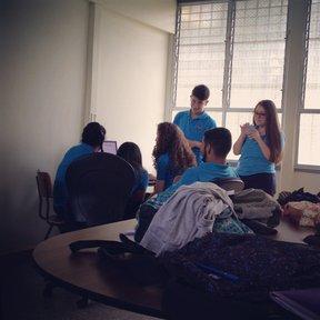 Hard at work preparing for La Compania