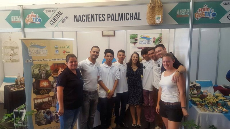 At the Feria Gustico with the former First Lady of Costa Rica.