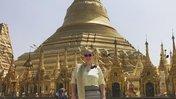 Volunteer Emma at Shwedagon Pagoda
