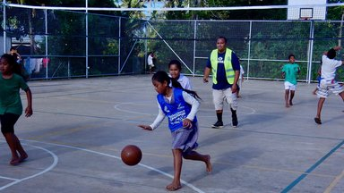 Rotary Club member donating time as referee and mentor.