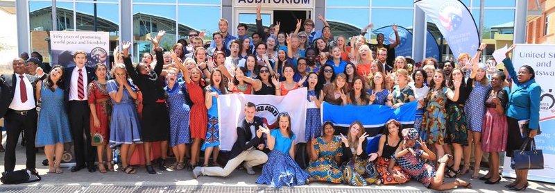 Group photo of Botswana volunteer group