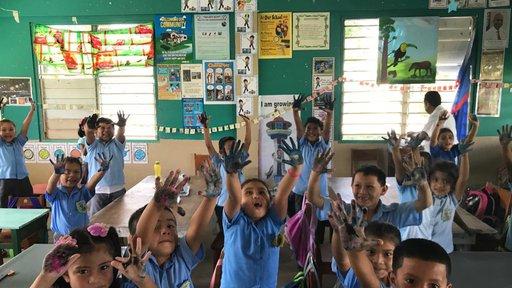 Claudia school children