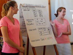Volunteers share grammar-teaching ideas during In-Service Training