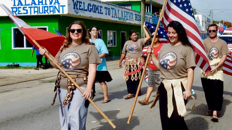 Group 80 marches to celebrate King's Birthday (July, 2016).