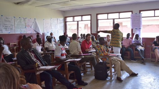 Participants during the workshop