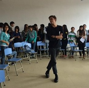 In addition to teaching English, Jeremie Gluckman-Picard held dance classes in China.