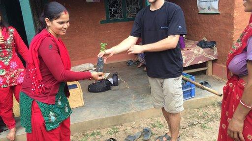 Distribution of moringa tees to local women's health group