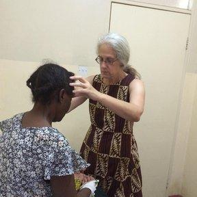 A GHSP Volunteer works in Malawi.