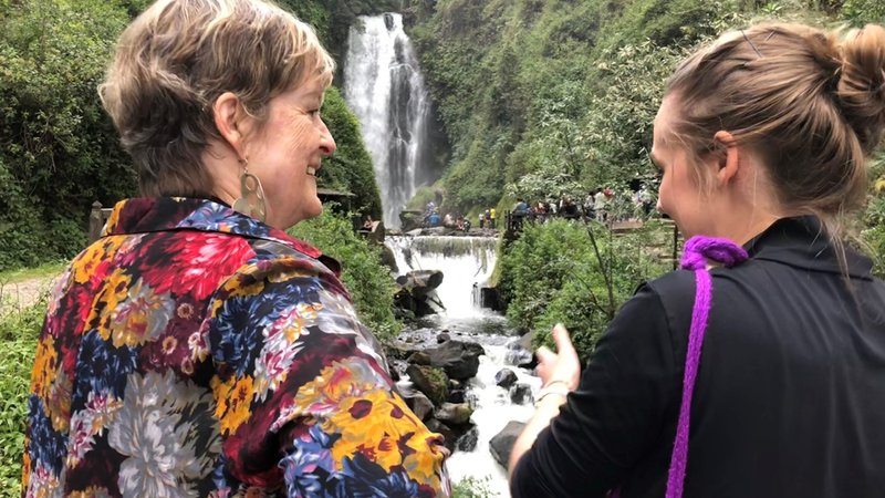 Director Olsen in Ecuador at waterfall