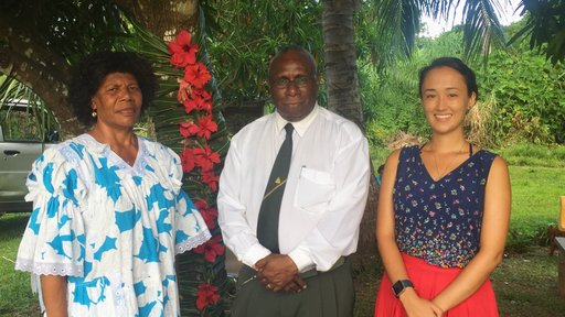 PCV Emma and the President of Vanuatu