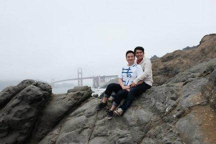 Enjoying San Francisco together, June 2015