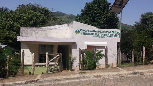 Exterior of rural savings cooperative, La República Dominicana, 2017