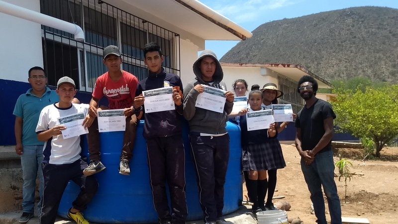 Daniel Farmer with Youth Rainwater Collection Project