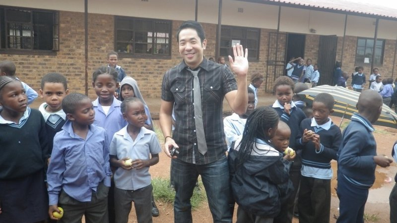 George Nishikawa taught English and math during his first two years of service in South Africa.