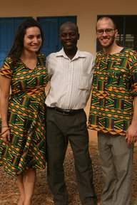Olivia and Jason with David Sefe, the Ghana director of their organization Rural Health Collaborative.