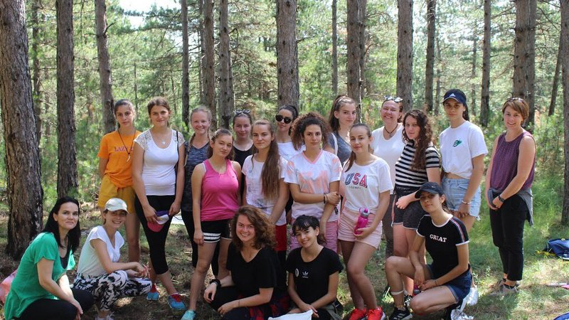 Peace Corps staff joined campers for lunch on a nature trail