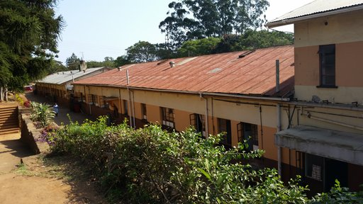 The hospital where Catherine works in Swaziland.