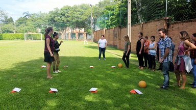 Community Health sector staff and  volunteers come together to lead training activities