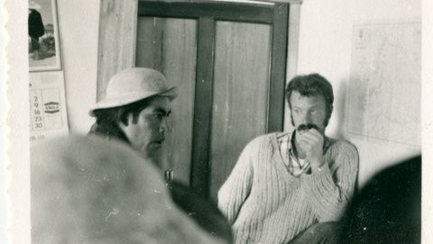 Here I am in 1969 listening to a local Kañari leader. He is still active in community leadership. We are still in contact. We both have white hair, though.