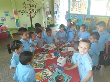 Small children and books