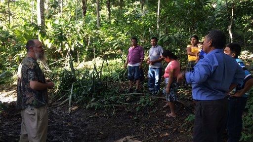 Latrine project team on training