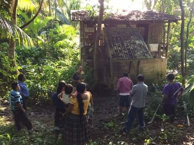 Latrine Committee learning about latrine construction