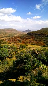 A view from a student's home village outside of the rural town in Tigray, Ethiopia.